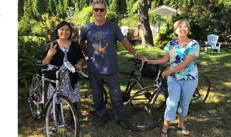 Bike Riding with Katherin from Peru for Post